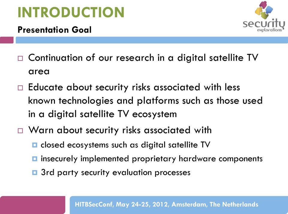SECURITY VULNERABILITIES OF DIGITAL VIDEO BROADCAST CHIPSETS - PDF