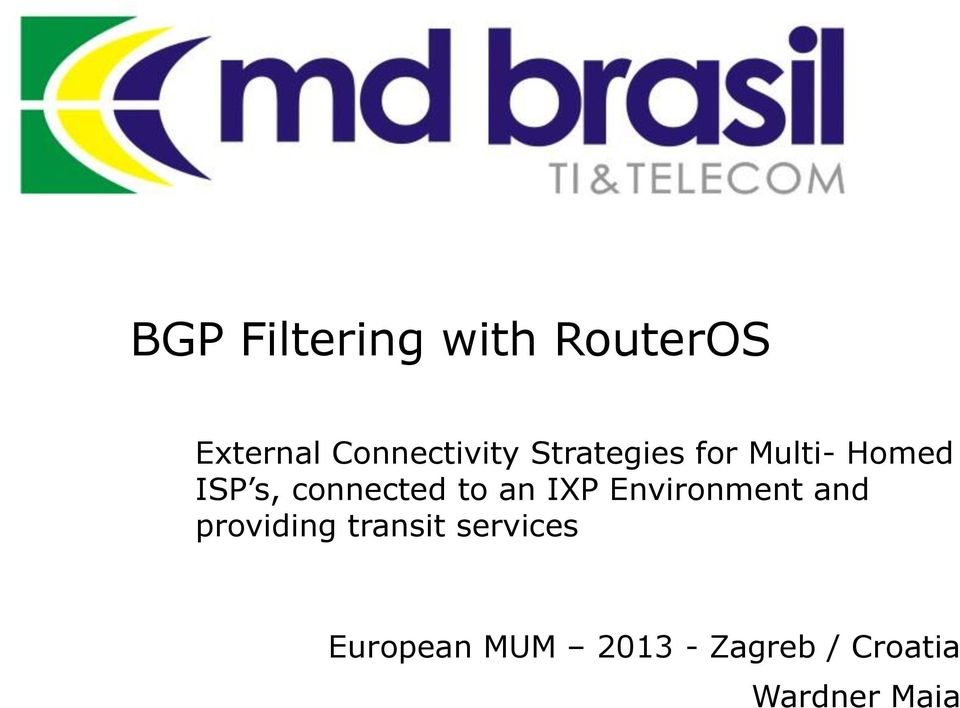 BGP Filtering with RouterOS - PDF