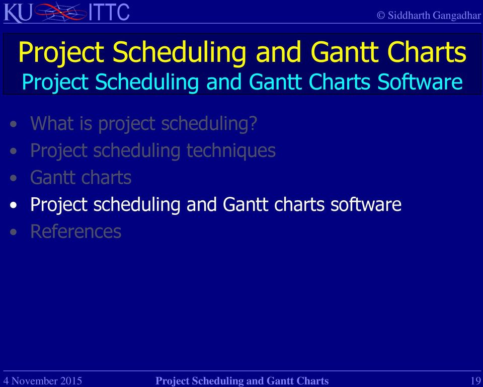 Project Scheduling And Gantt Charts Pdf