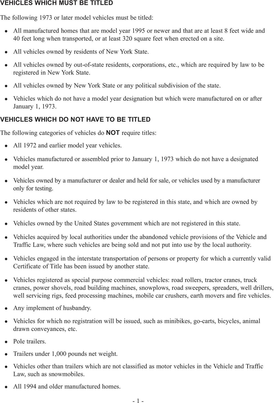 New York State Department Of Motor Vehicles Pdf