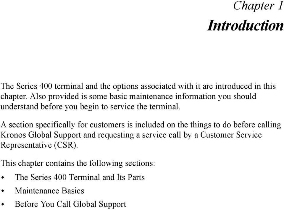 Maintenance And Troubleshooting Guide Series 400 Terminal PDF