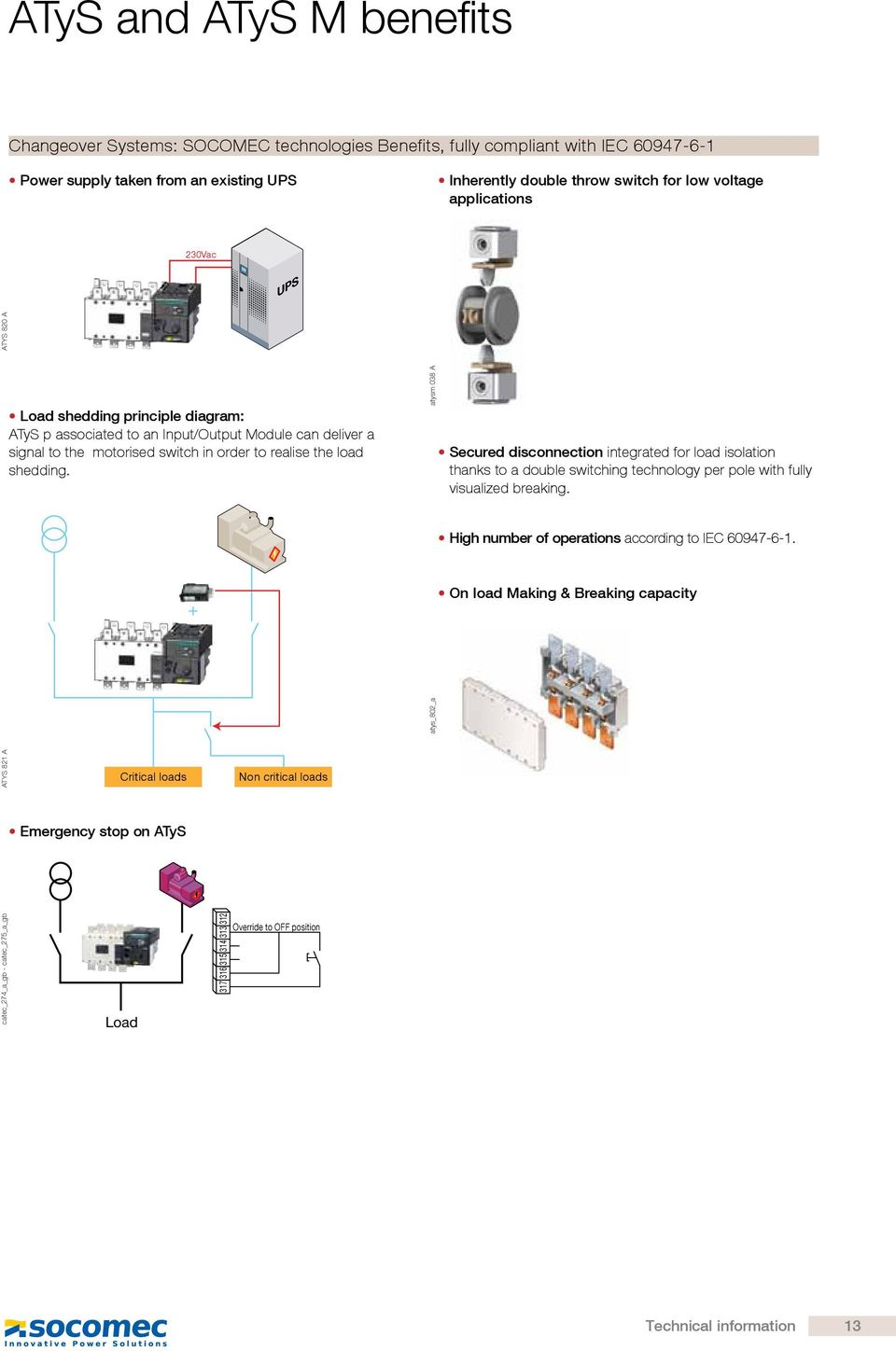 technical information  typical automatic transfer switch