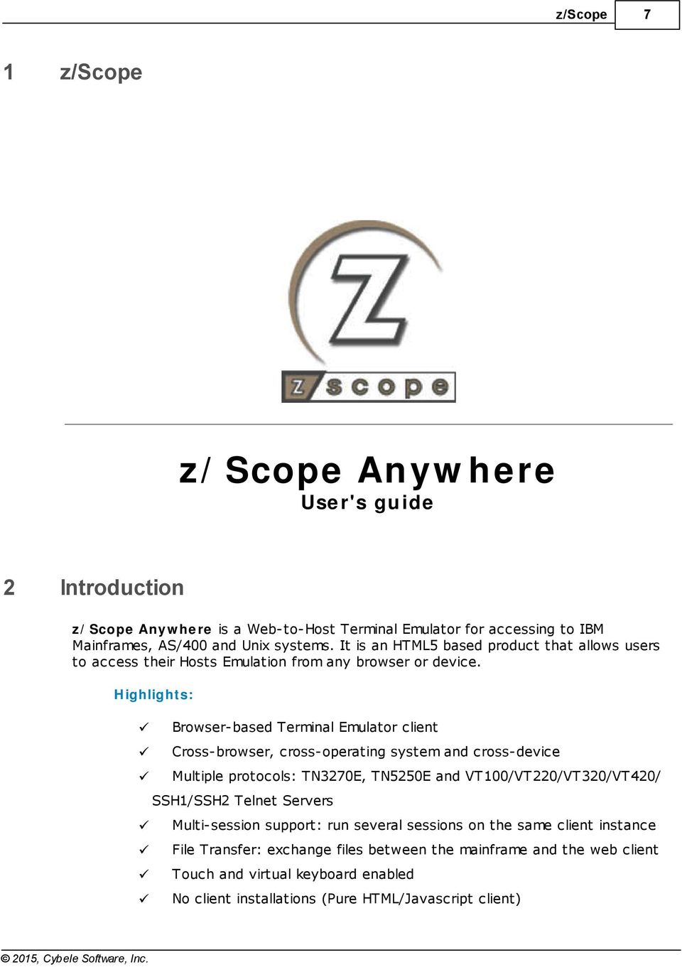 z/scope Anywhere User's guide - PDF