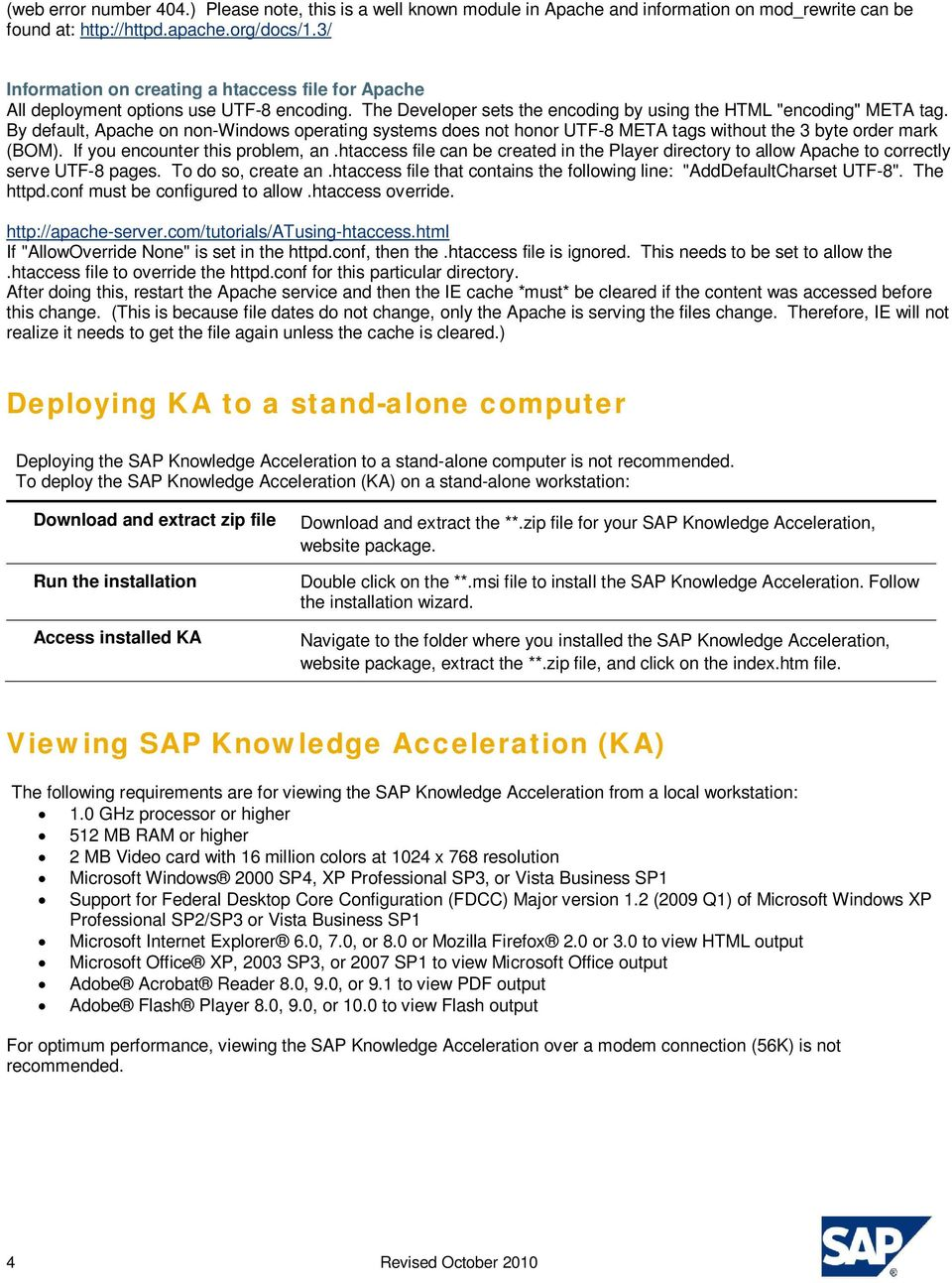 Installing and Deploying SAP Knowledge Acceleration (KA) - PDF
