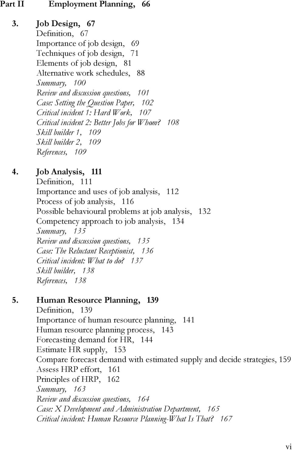 problems of human resource planning