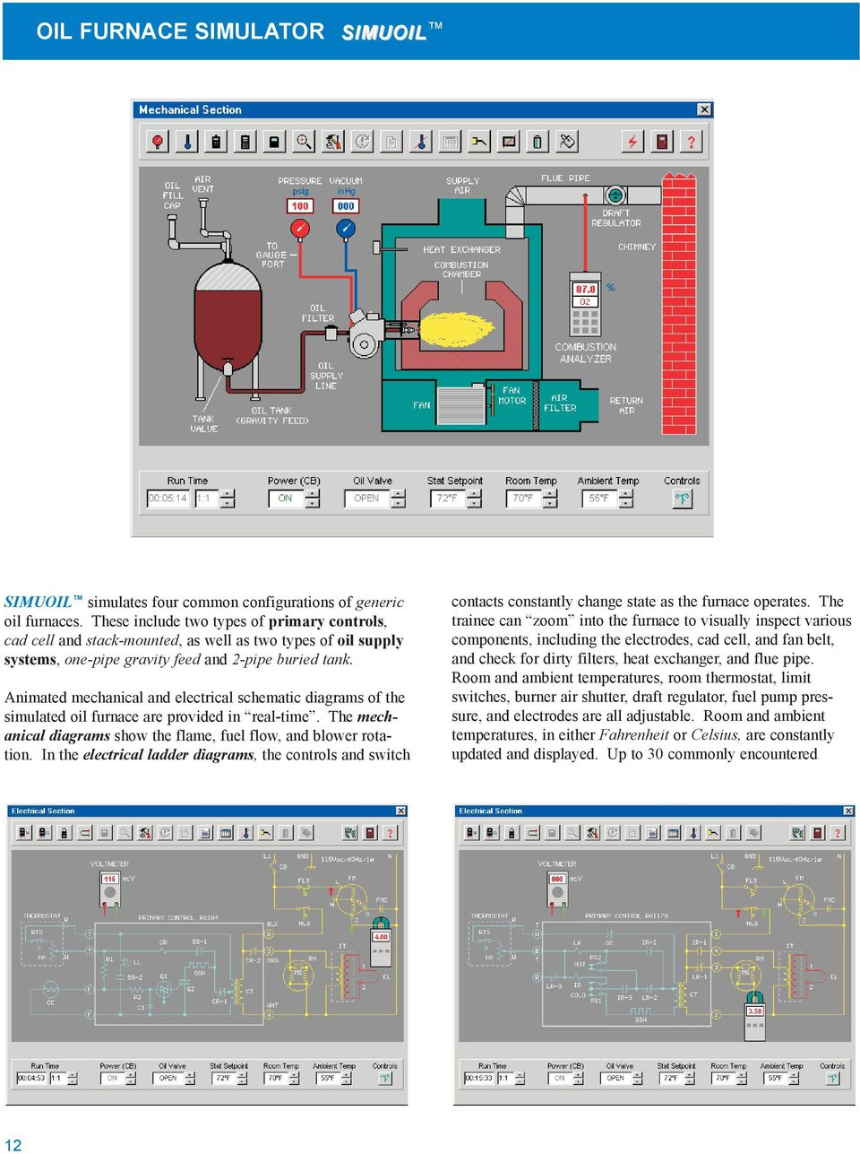 Simulation Software For Hvacr Training Simulator Systems Pdf Is Very Useful When Simulating This Type Of Circuit Diagram Animated Mechanical And Electrical Schematic Diagrams The Simulated Oil Furnace Are Provided In Real