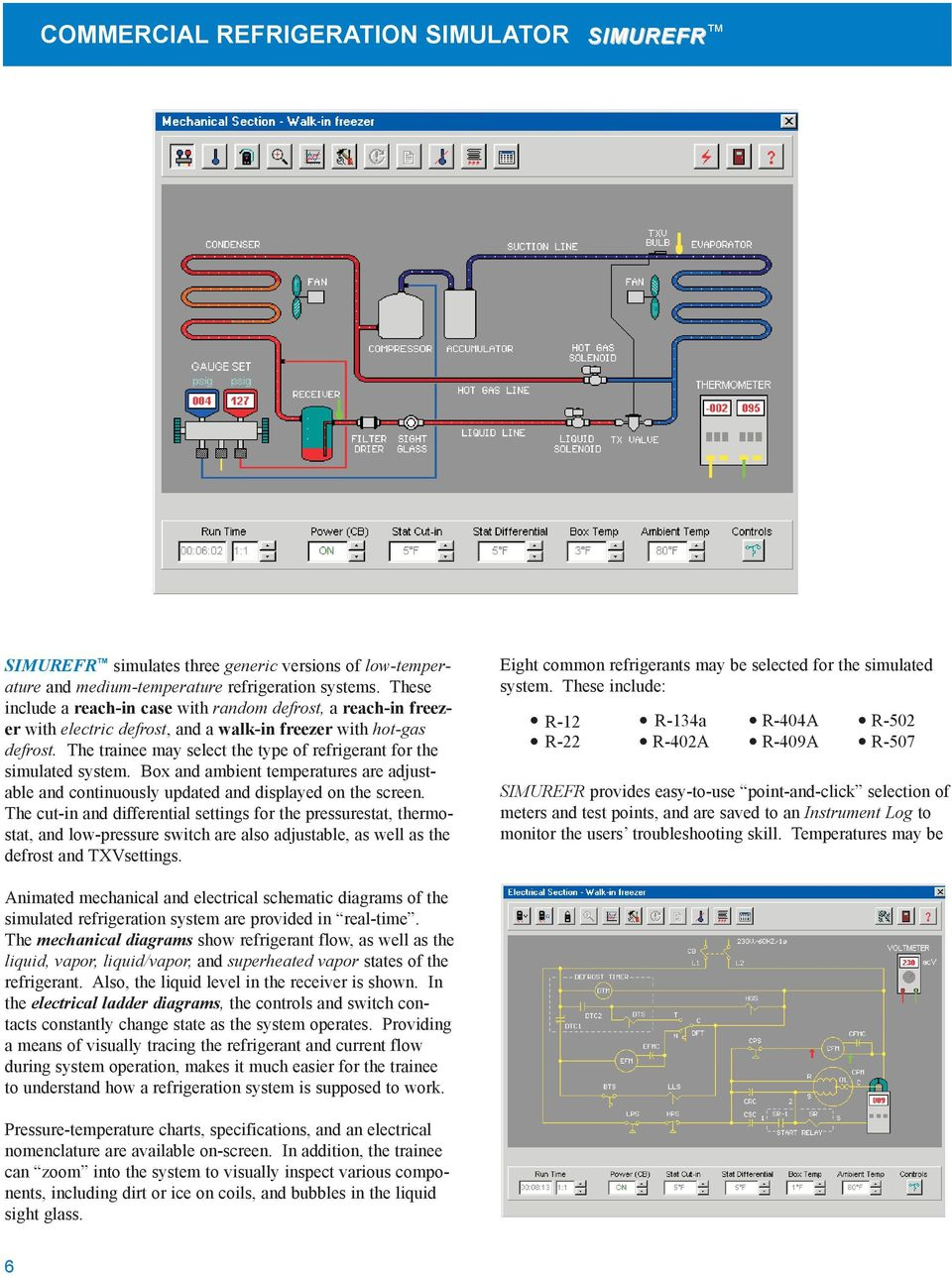 Simulation Software For Hvacr Training Simulator Systems Pdf Is Very Useful When Simulating This Type Of Circuit Diagram The Trainee May Select Refrigerant Simulated System Box And Ambient
