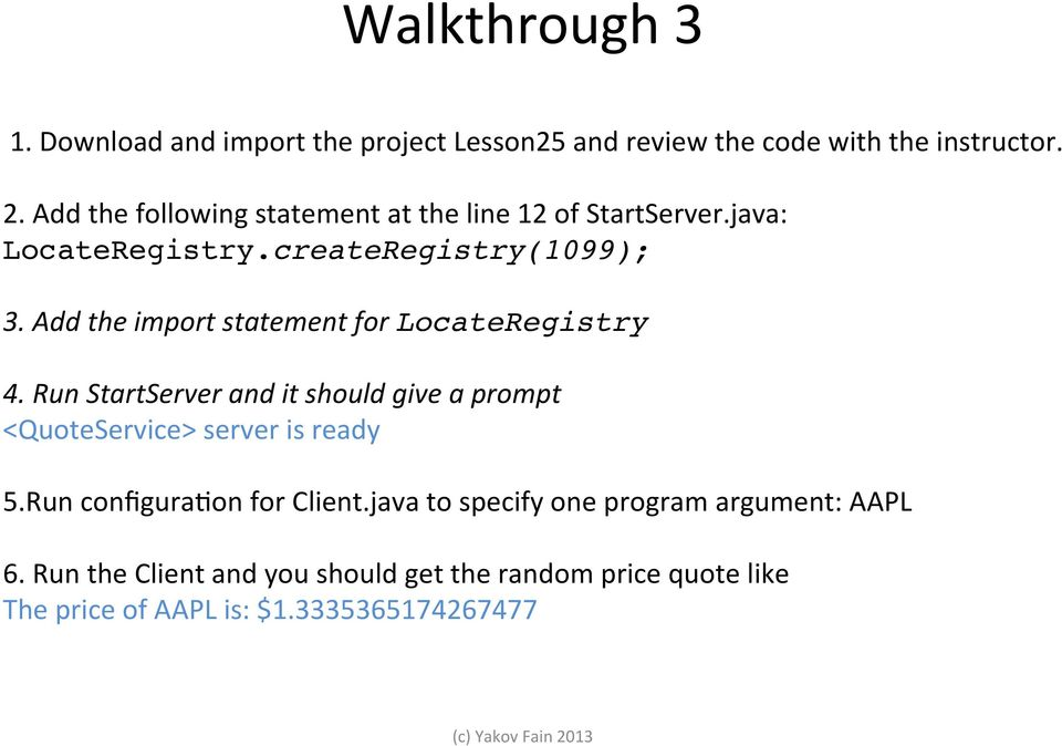 Java Programming Unit 10  Stock Price Quotes with URL