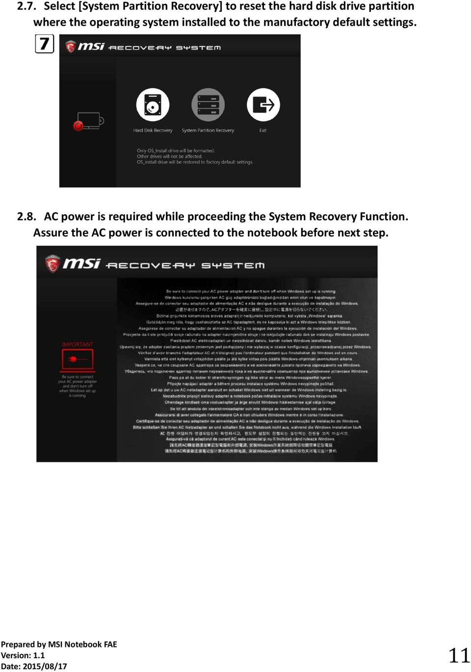 Q: How to use MSI BurnRecovey on Windows 10 preloaded system