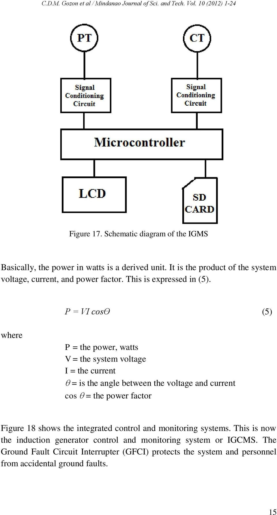 Induction Generator Control And Monitoring System For Micro Hydro Circuit Breaker Moreover Ground Fault Interrupter Gfci P Vi Cos 5 Where The Power Watts V