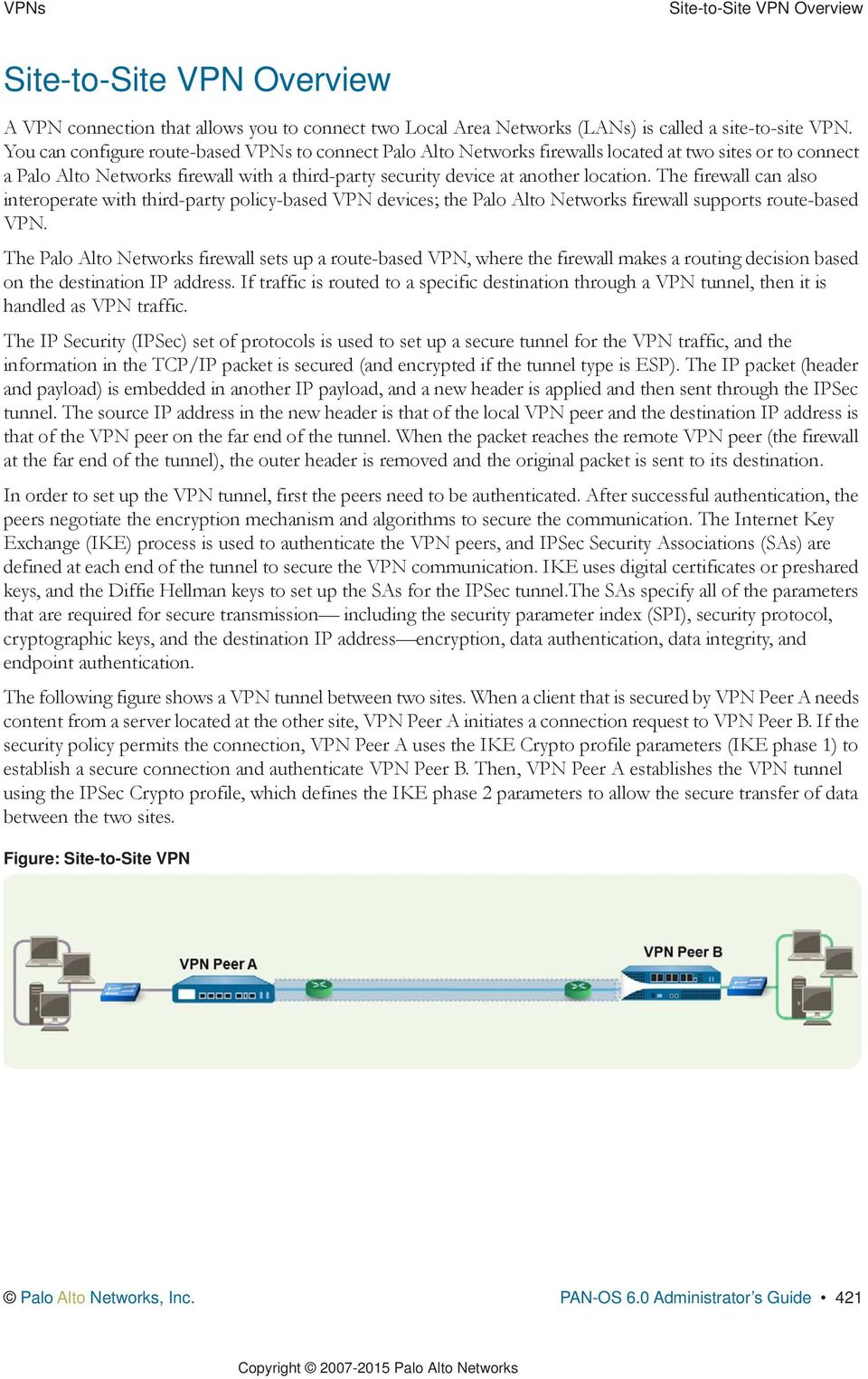 VPNs  Palo Alto Networks  PAN-OS Administrator s Guide Version 6 0