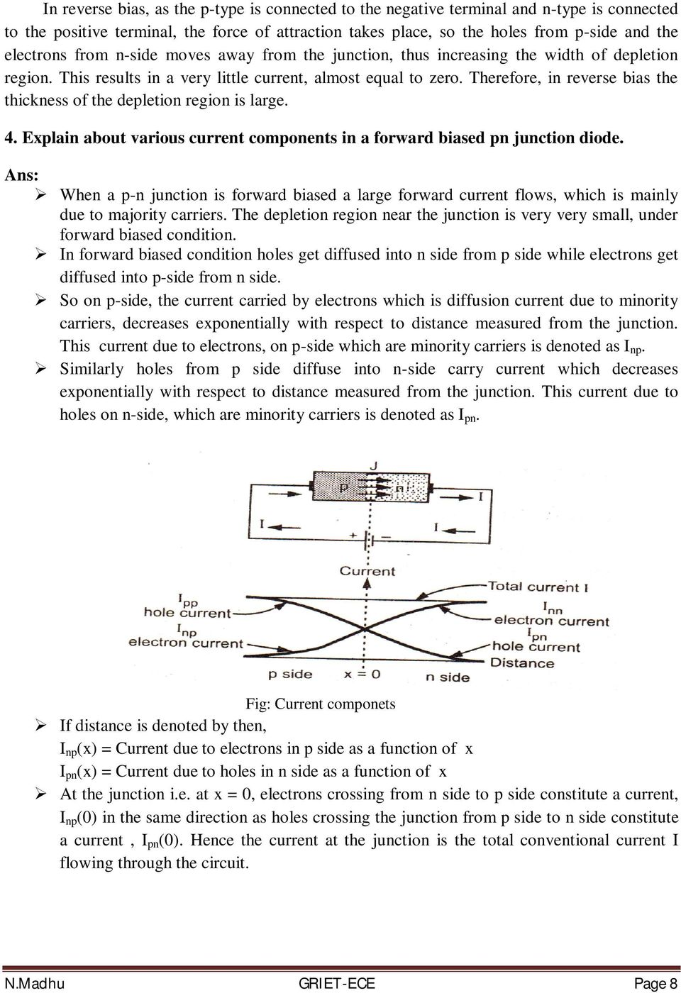 Basic Electrical And Electronics Engineering Pdf Pn Junction Diode Its Characteristics Therefore In Reverse Bias The Thickness Of Depletion Region Is Large 4