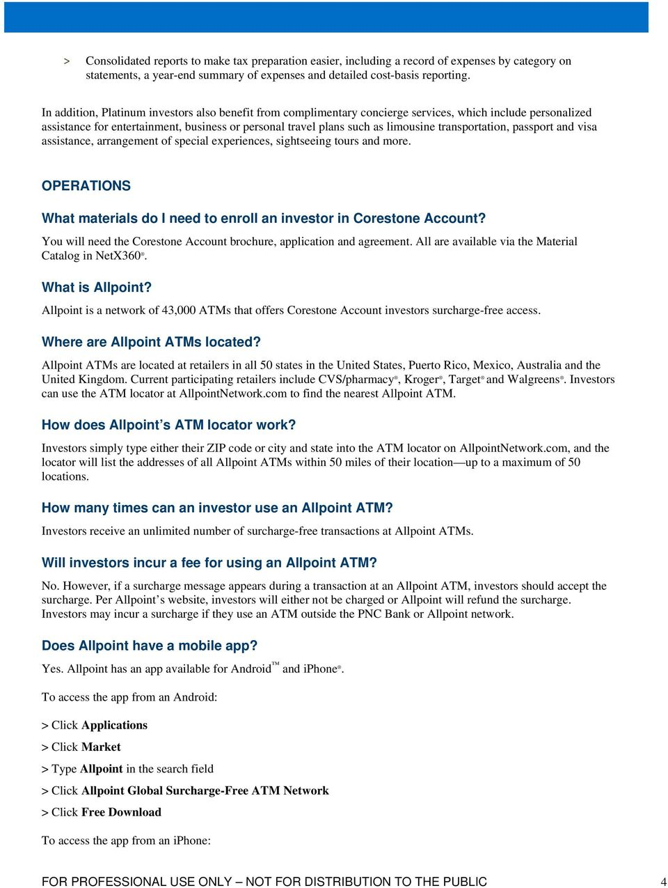 Corestone Account Frequently Asked Questions - PDF