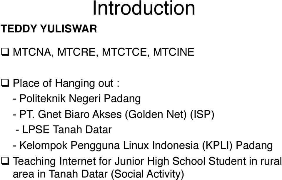 Implementation IPV6 in Mikrotik RouterOS  by Teddy Yuliswar