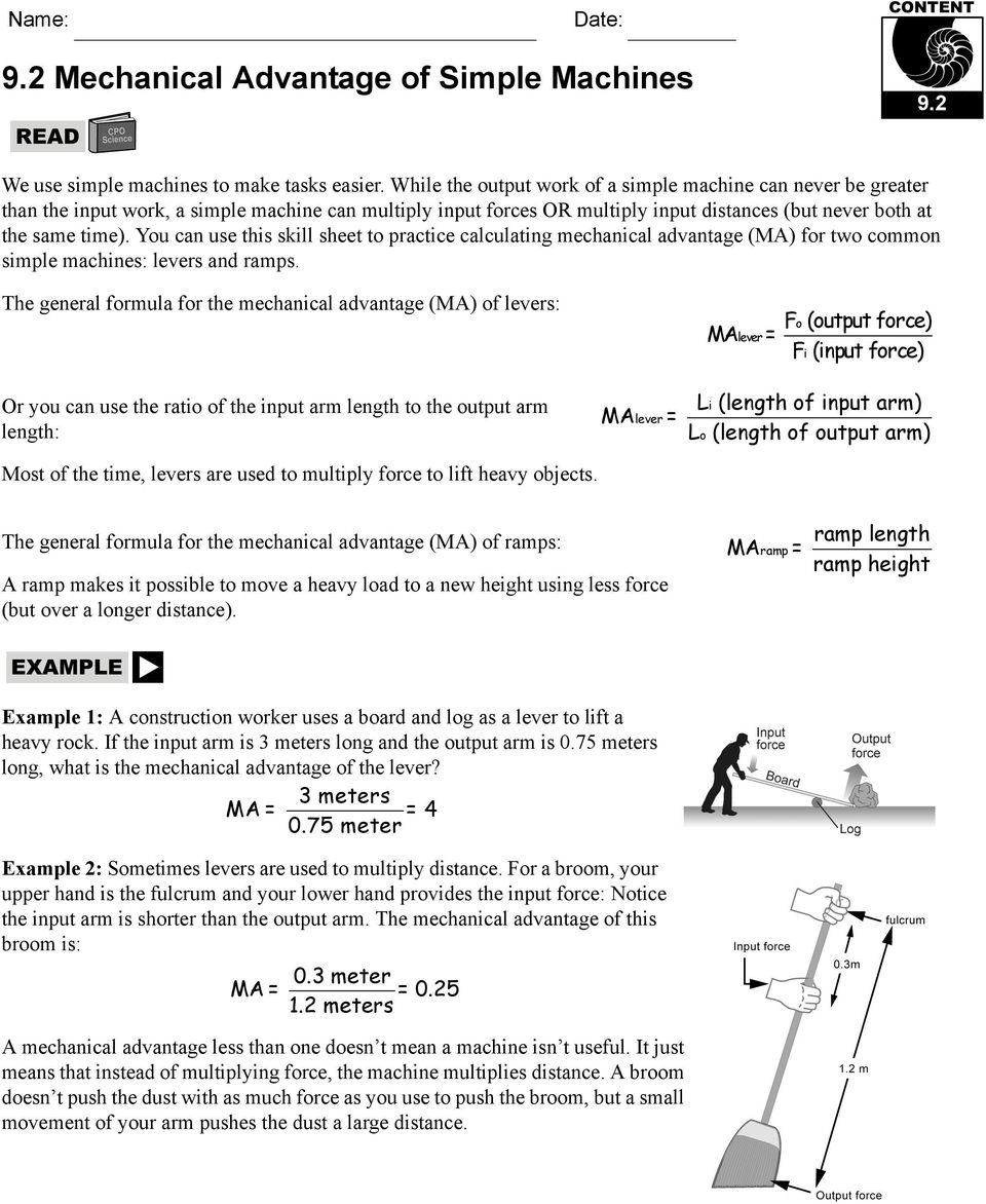20+ New For Simple Machines Webquest Worksheet Answer Key ...