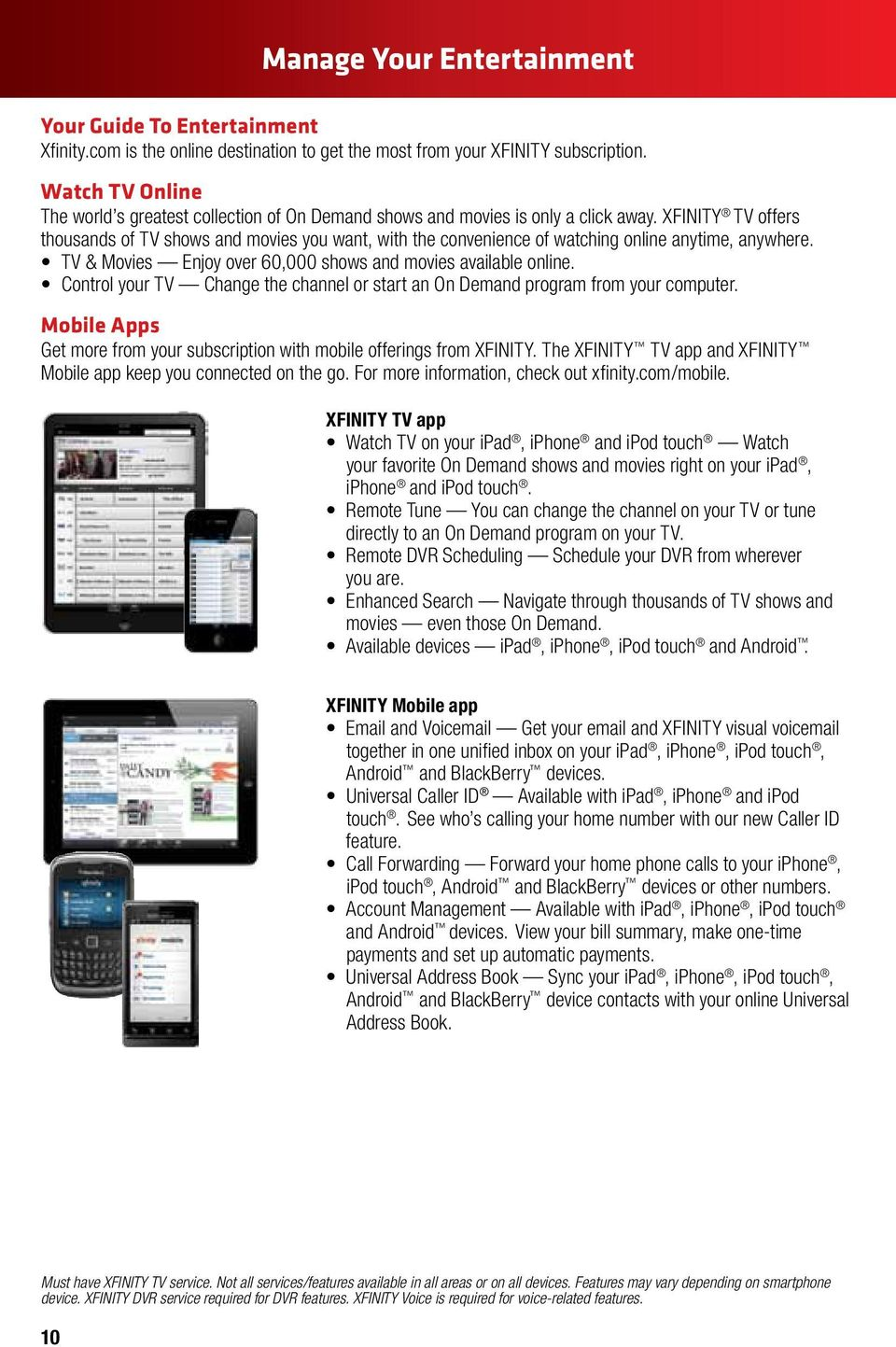 XFINITY INTERNET AND VOICE User Guide - PDF