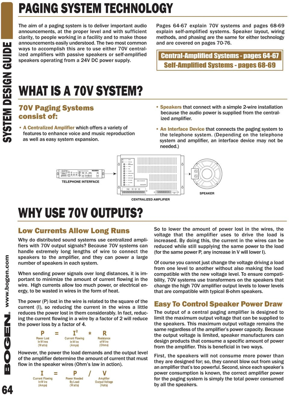 System Design Guide Pdf Bogen Intercom Systems Wiring Diagram The Two Most Common Ways To Accomplish This Are Use Either 70v Centralized Amplifiers With
