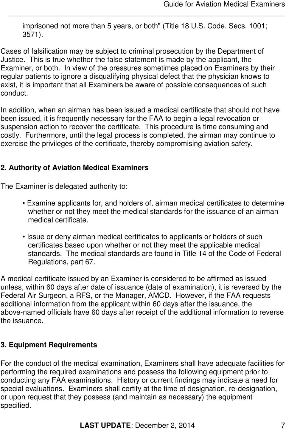 GUIDE FOR AVIATION MEDICAL EXAMINERS - PDF