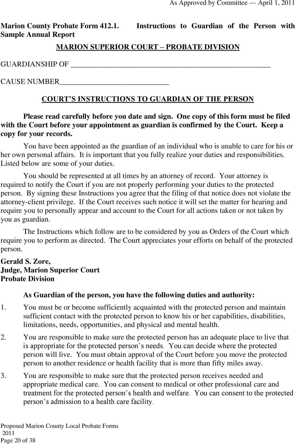 Index Of Marion County Probate Forms Pdf
