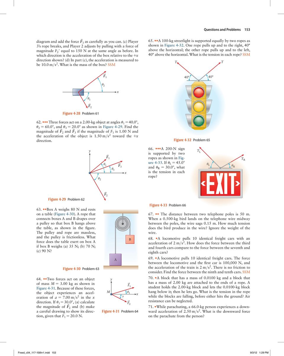 Questions And Problems Pdf Draw Freebody Diagrams For Each Of The Two Blocks Andthepulley In Which Direction Is Acceleration Box Relative To X Shown