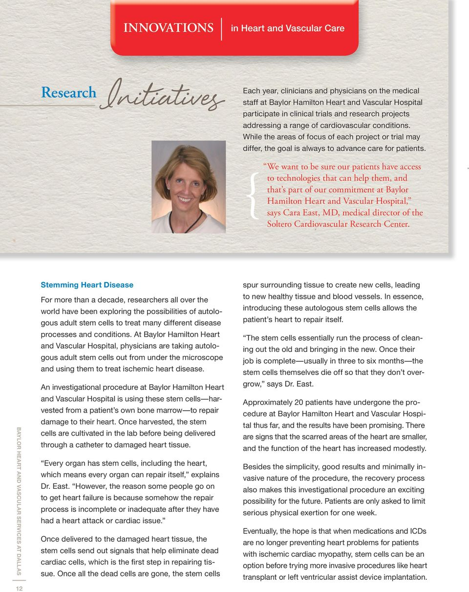 BAYLOR HEART AND VASCULAR SERVICES AT DALLAS - PDF