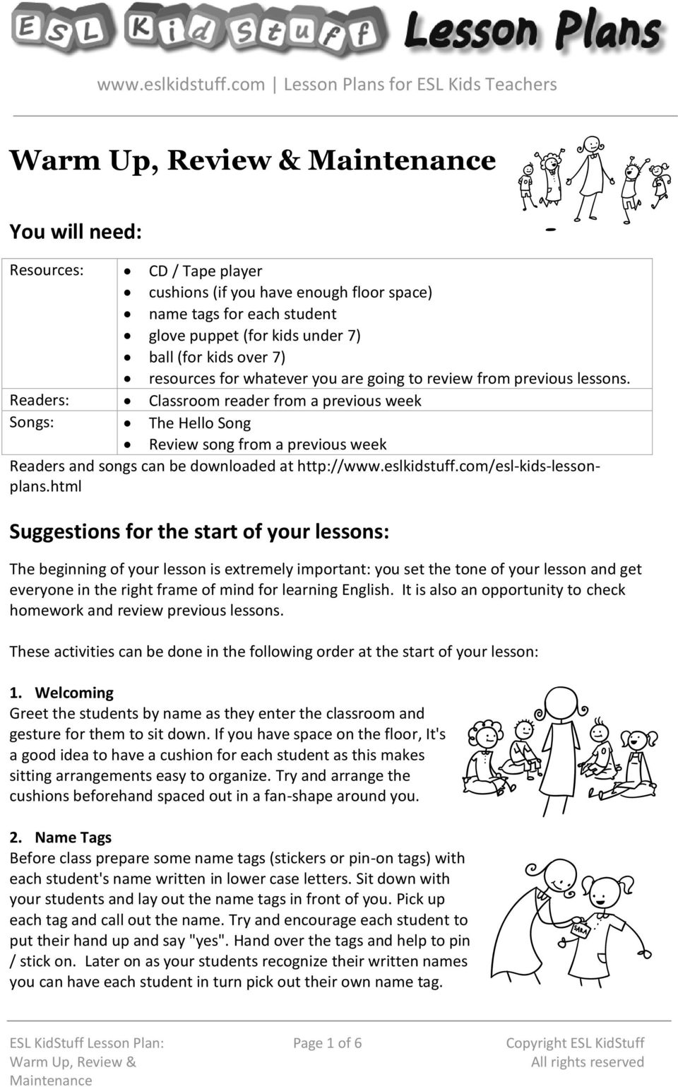lesson plans for esl kids teachers pdf