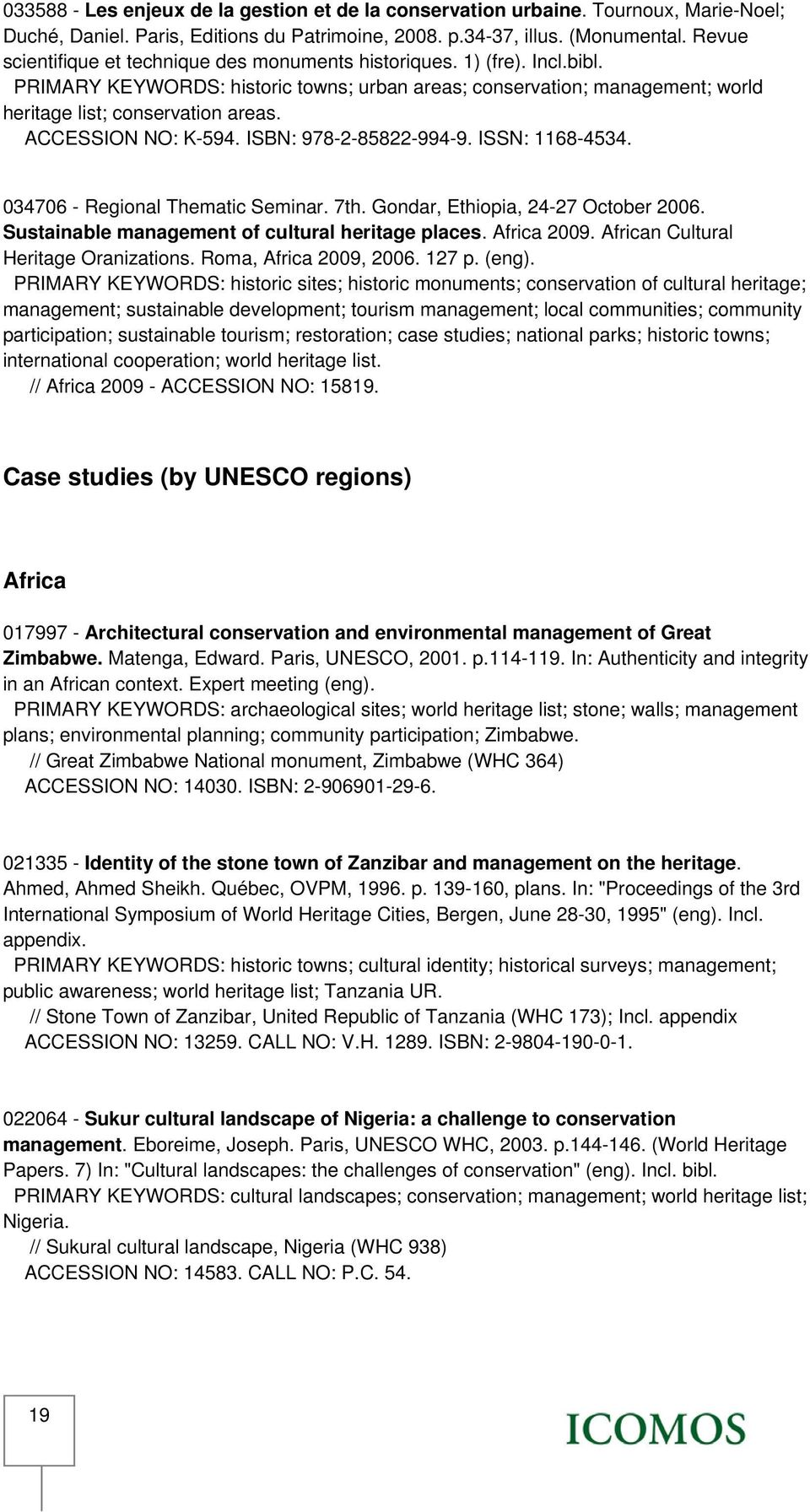 Management plans and the World Heritage Convention: A bibliography.  UNESCO-ICOMOS Documentation Centre - PDF Free Download