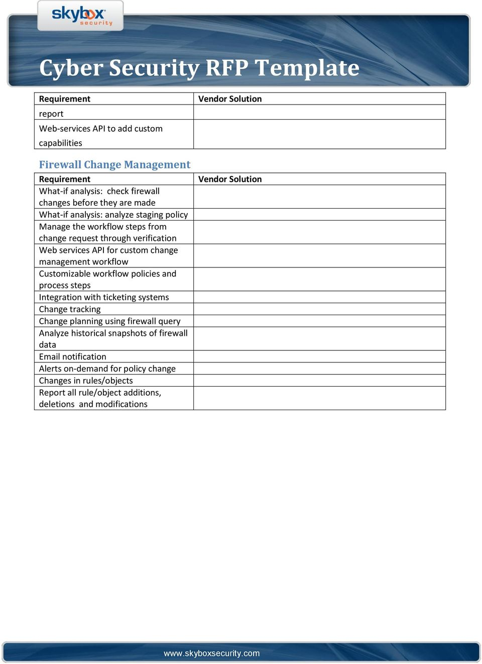 Cyber Security RFP Template - PDF