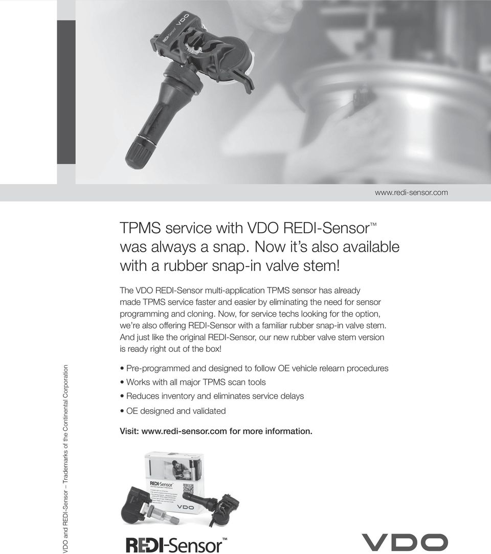 Now, for service techs looking for the option, we re also offering REDI-