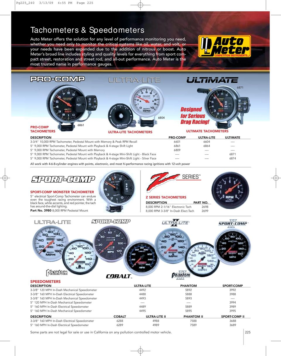 Blox Racingr Rpm Tachometer Gauge Replacement Wiring Harness Auto Meter Tachometers Pdf Ultimate Pro Comp Ultra Lite 3 4 10000