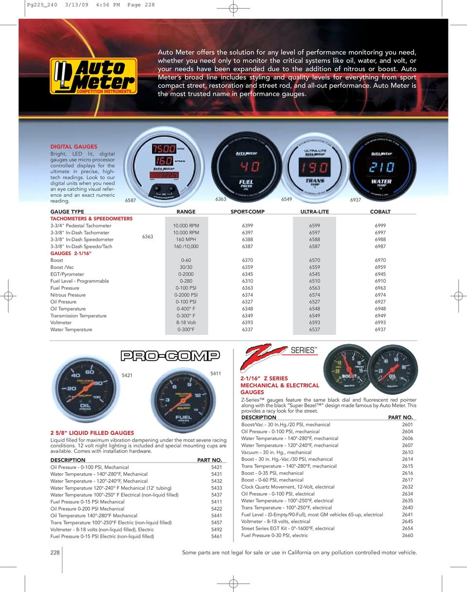 Auto Meter Tachometers Pdf Autometer Cobalt Tach Wiring Diagram Along With Rpm Gauge Look To Our Digital Units When You Need An Eye Catching Visual Reference And Exact
