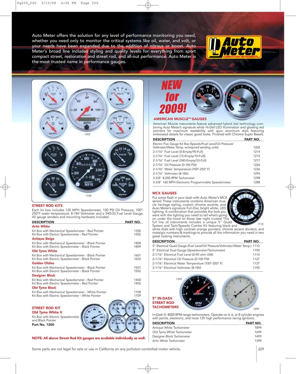 Auto Meter Tachometers Pdf Wiring Harness 93 Mustang Automatic American Muscle Tm Gauges Instruments Feature Advanced Hybrid Dial Technology Combining S