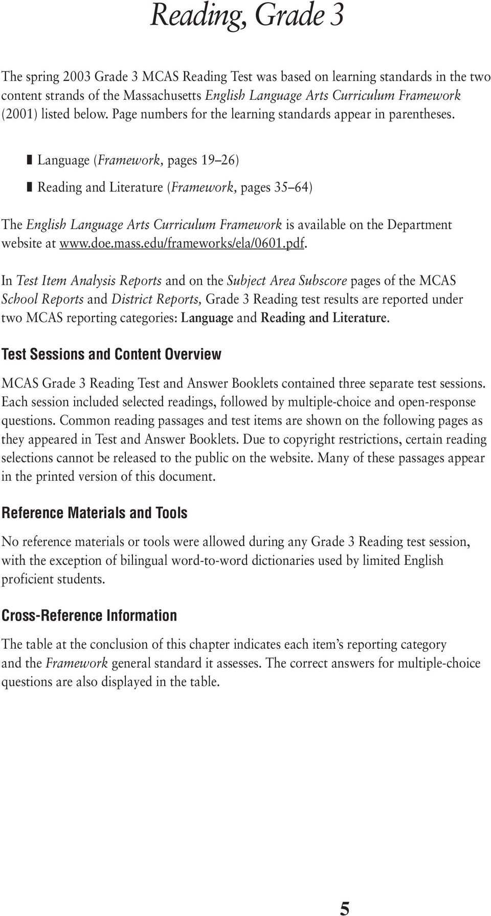 Release of Spring 2003 Test Items - PDF