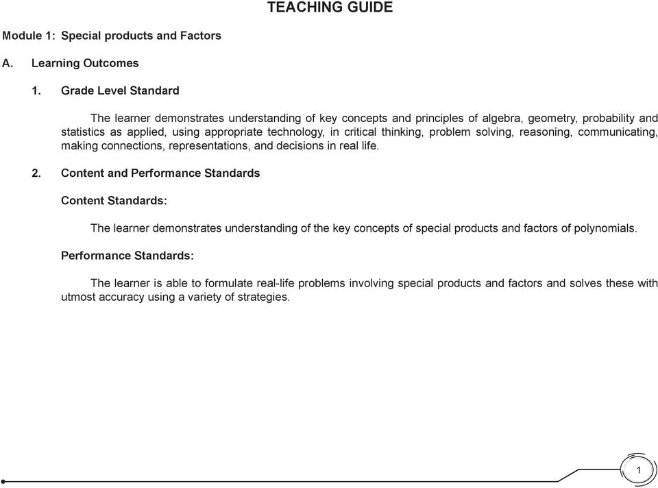 Teaching Guide The Learner Demonstrates Understanding Of The Key