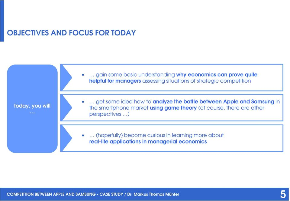 Competition between Apple and Samsung in the smartphone market
