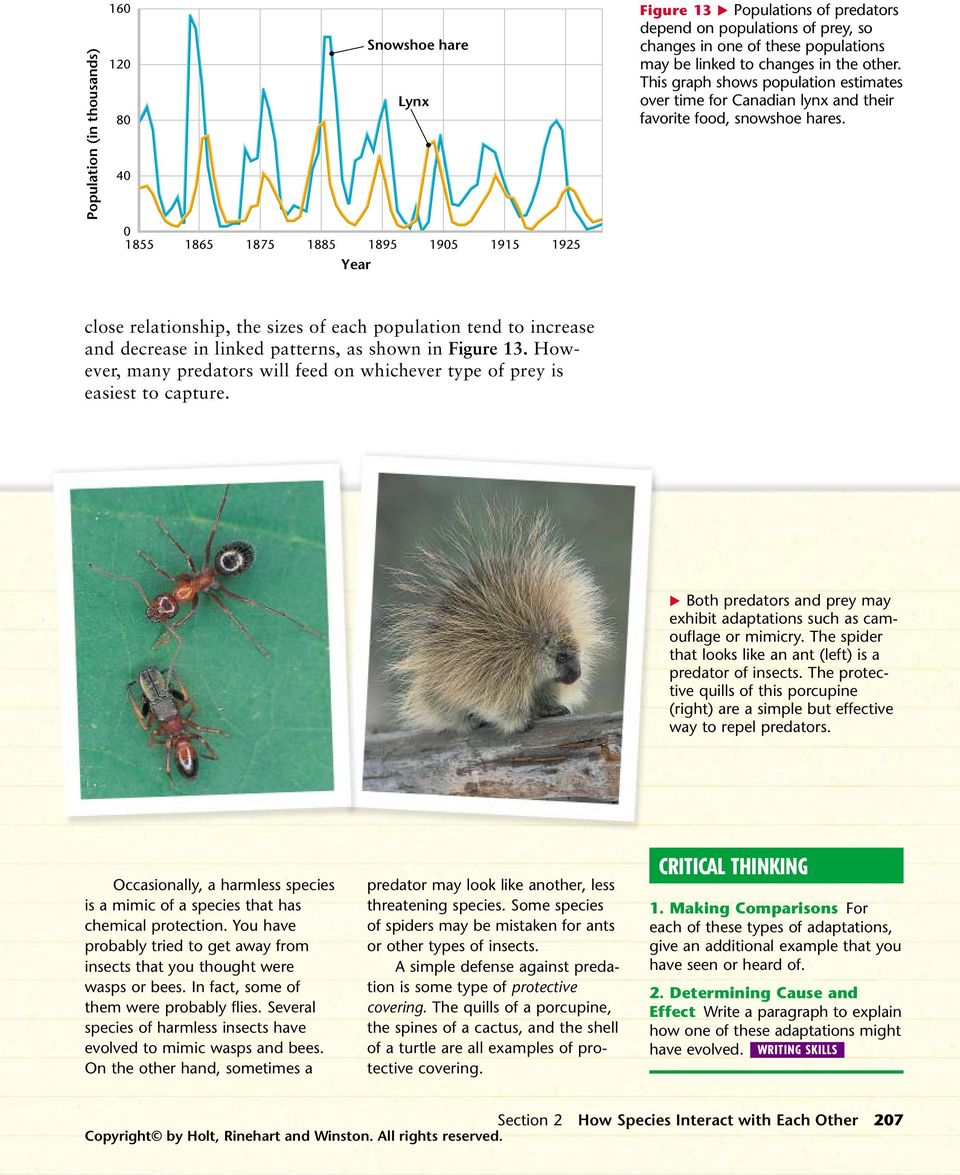 How Species Interact with Each Other - PDF