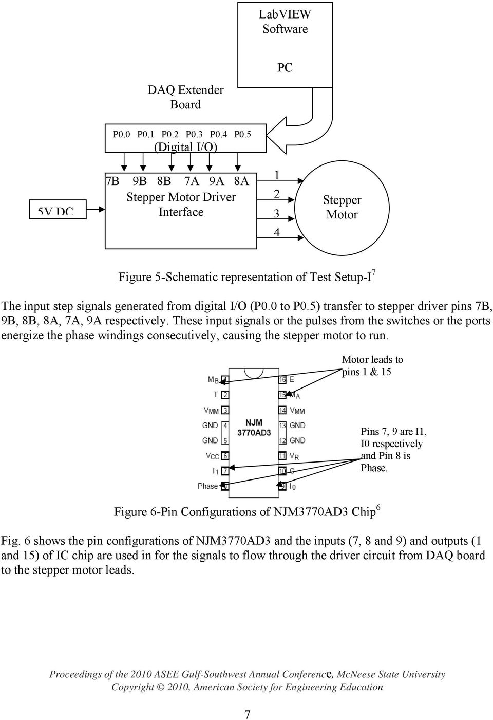 Stepper Motor Control Using Labview Tm In A Computer Numerically Steppermotorpulsegenerator Controlcircuit Circuit Diagram 0 To P05 Transfer Driver Pins 7b 9b 8b