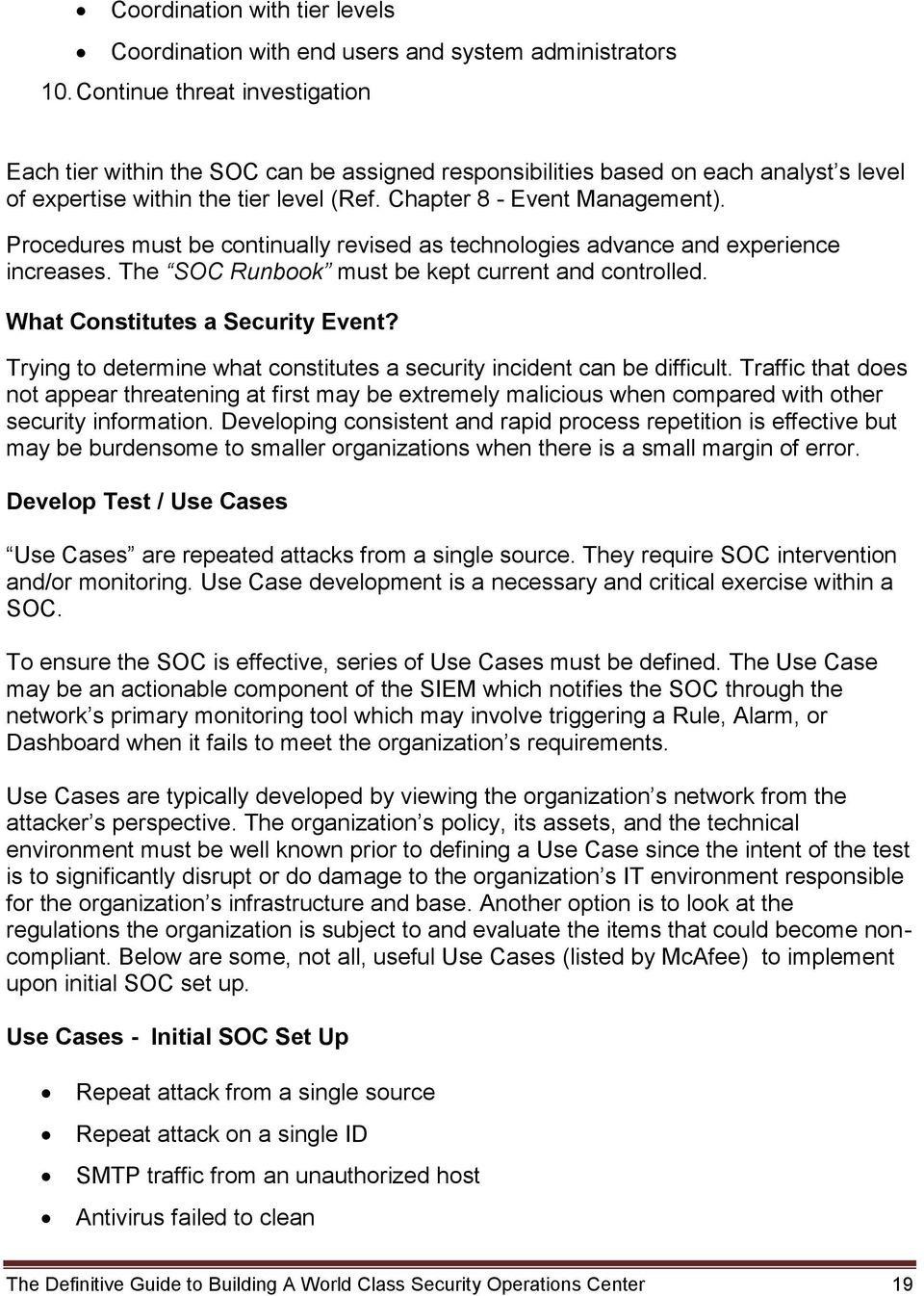The Definitive Guide to Building A World Class Security Operations
