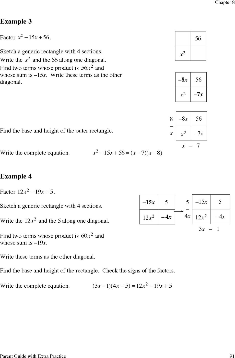 Factoring Quadratics Through Pdf