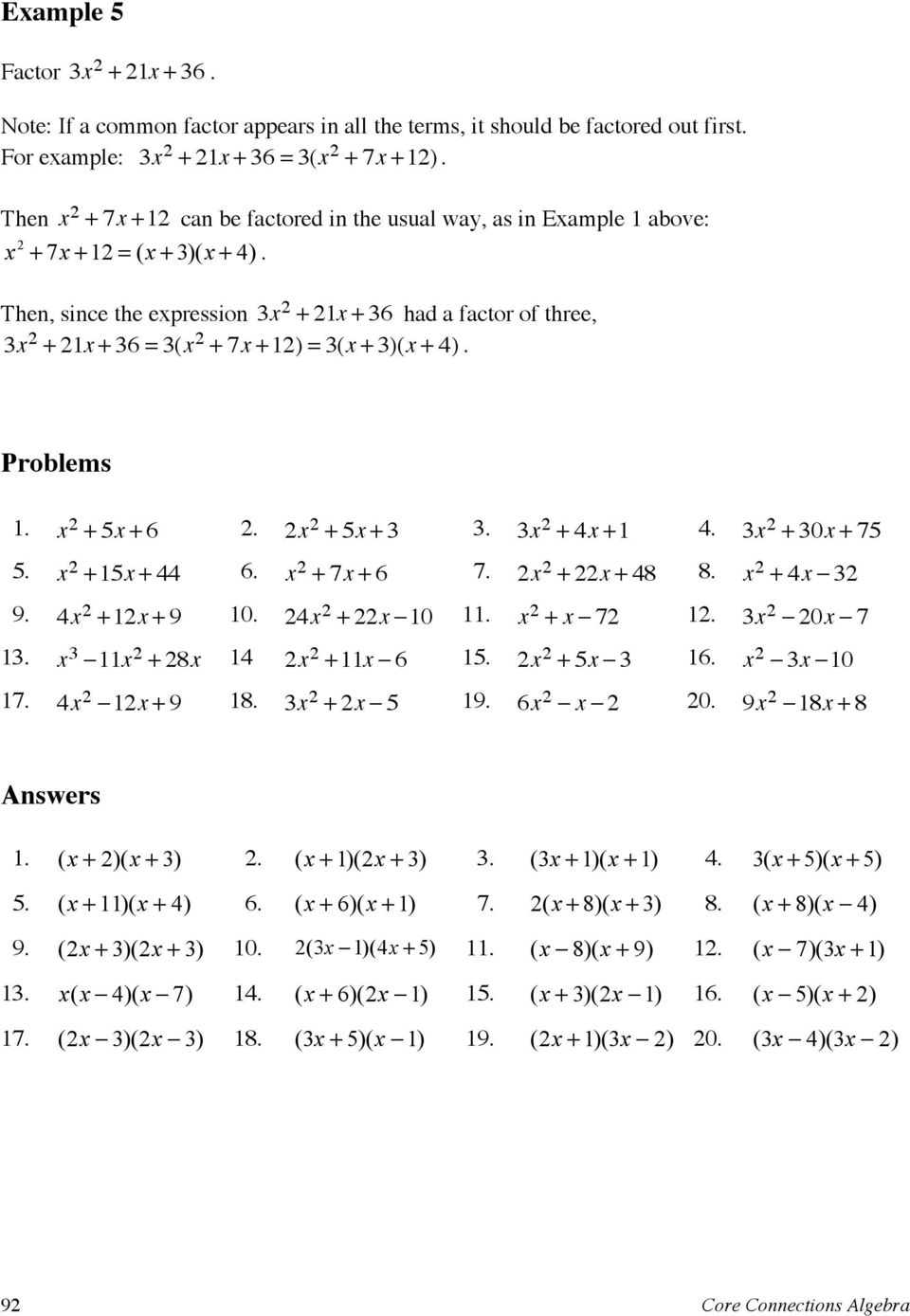 lesson 8-4 factoring ax2+bx+c problem solving answers