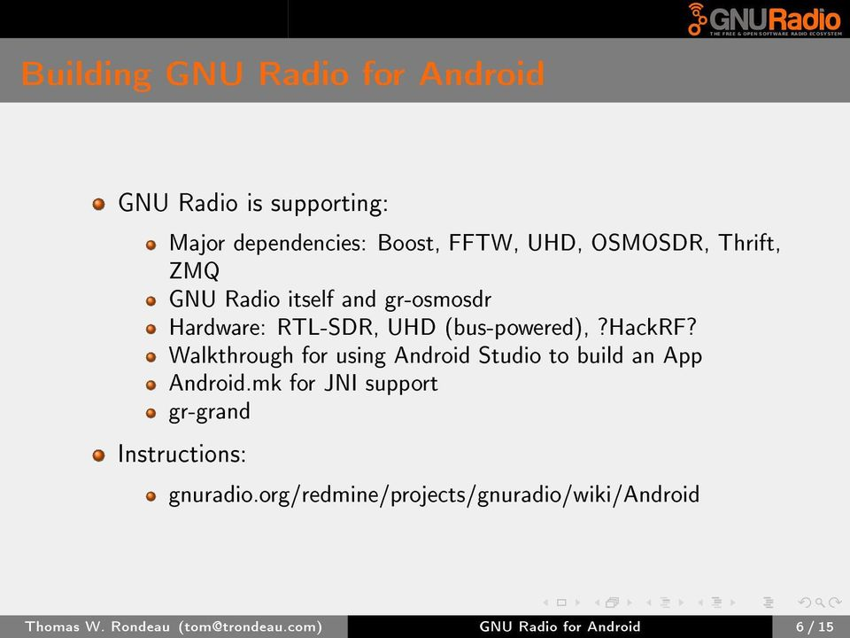 GNU Radio for Android - PDF