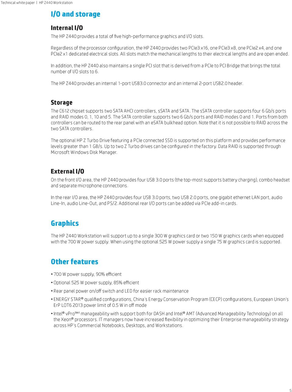 HP Z440 Workstation  Table of contents  Expand your power - PDF