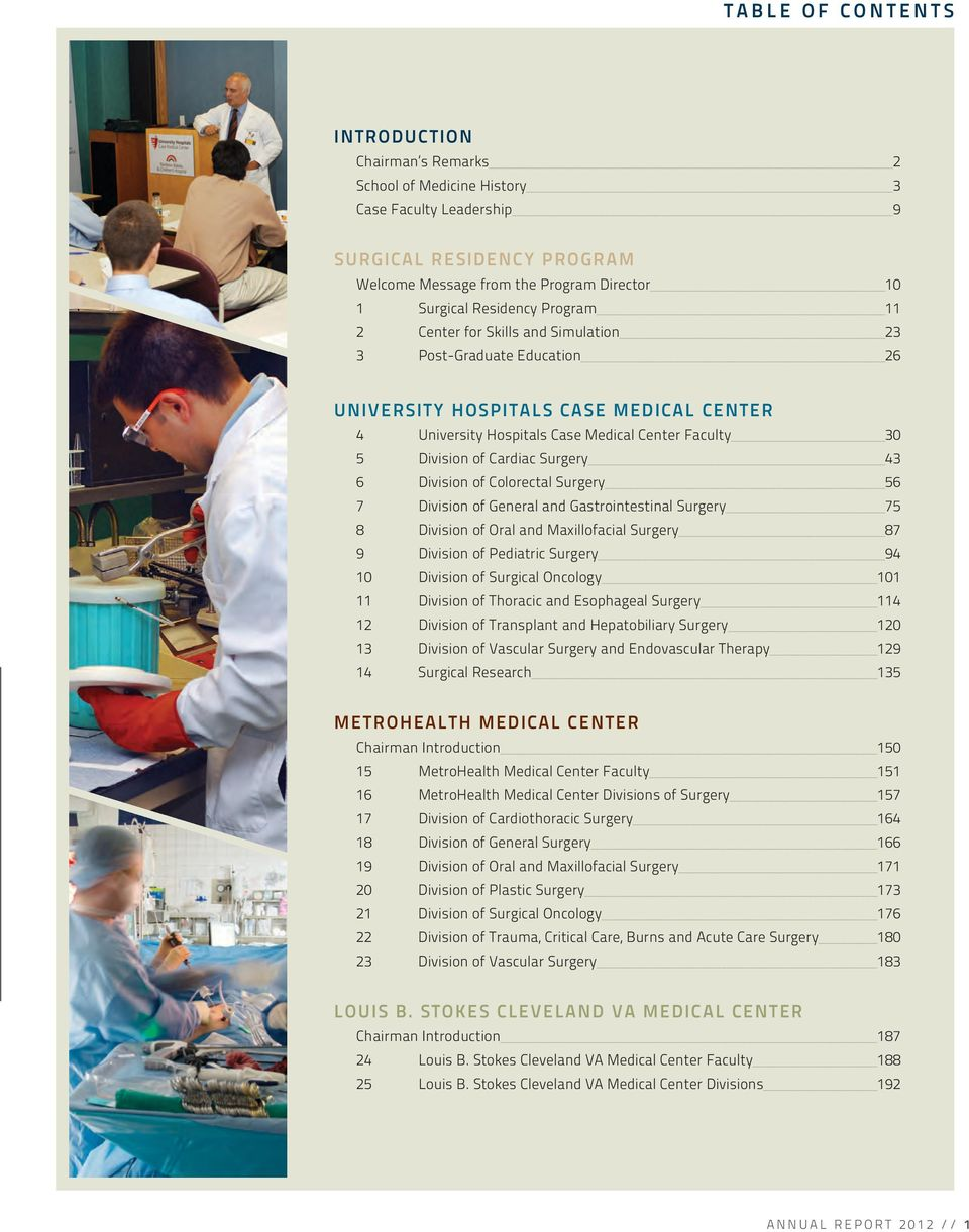 Department of Surgery  Case Western Reserve University