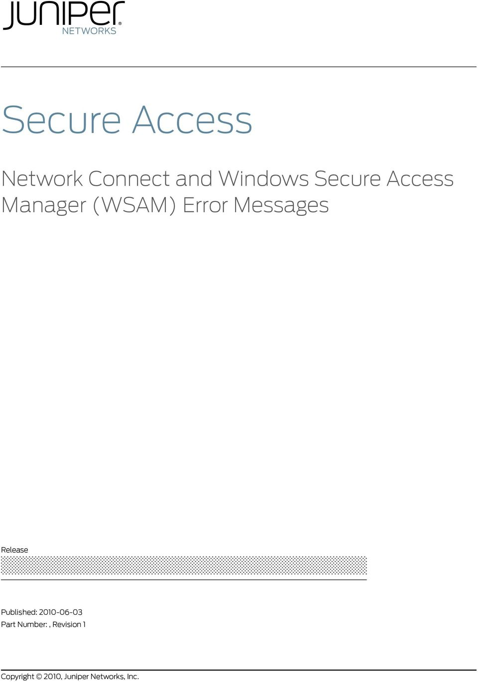 Secure Access  Network Connect and Windows Secure Access