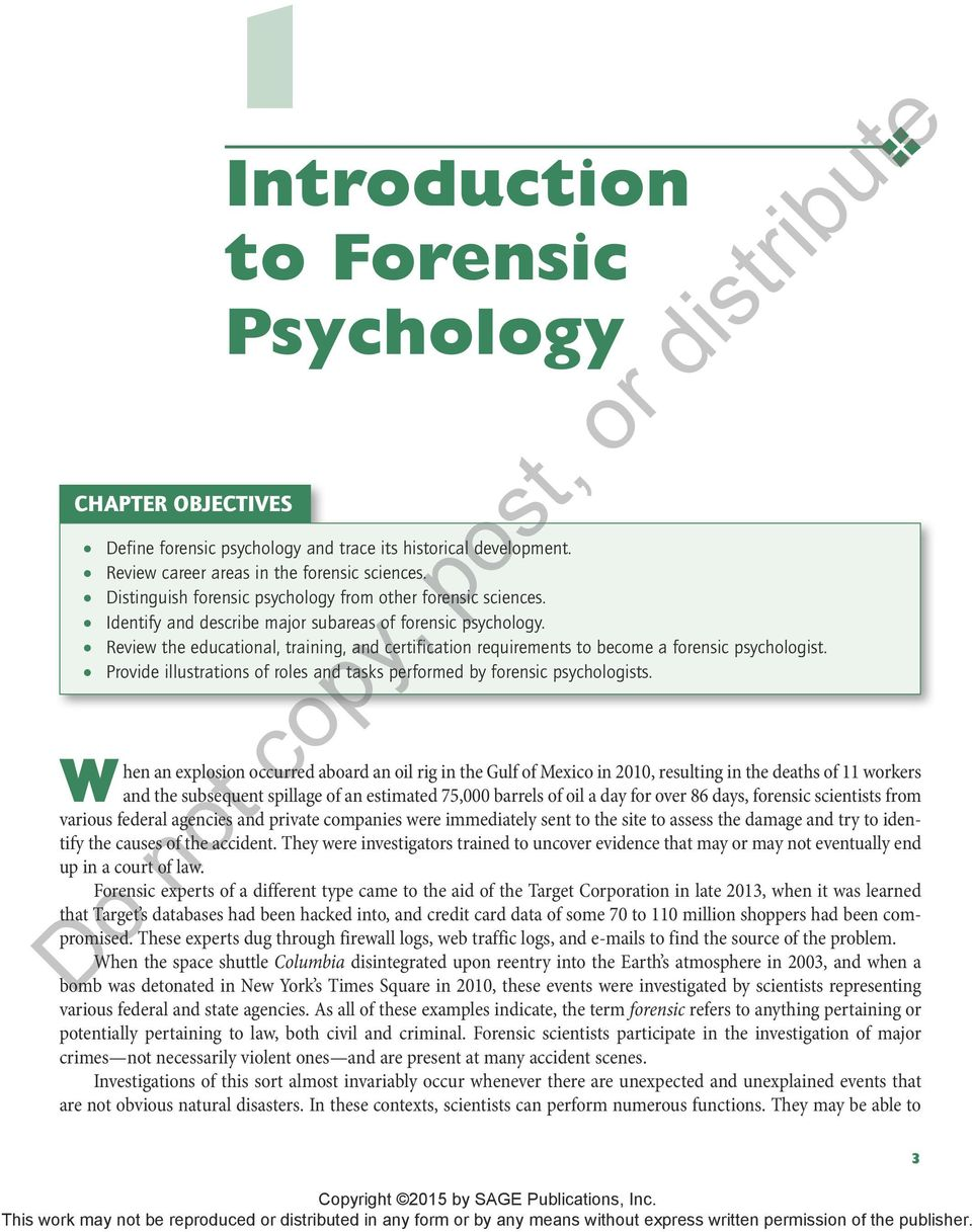 Introduction To Forensic Psychology Pdf Free Download
