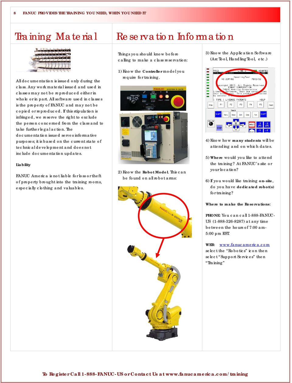 Training Catalog & Course Schedule FANUC-US - PDF