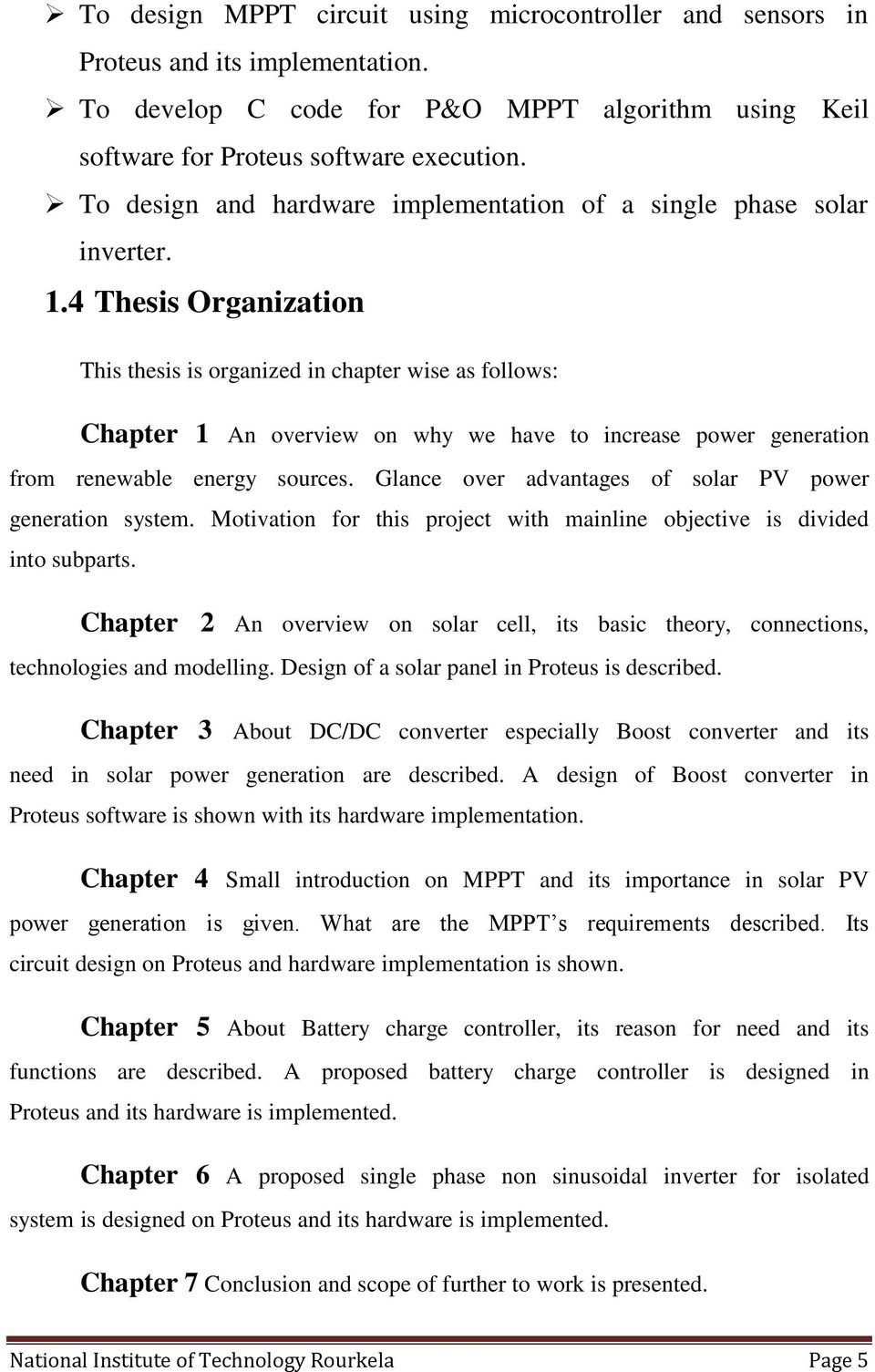 Design And Implementation Of An Isolated Solar Photovoltaic Power Boost Converter Circuit 4 Thesis Organization This Is Organized In Chapter Wise As Follows 1