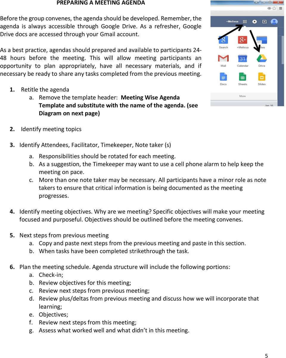 Meeting Wise Rolling Agenda Guidance Document Pdf