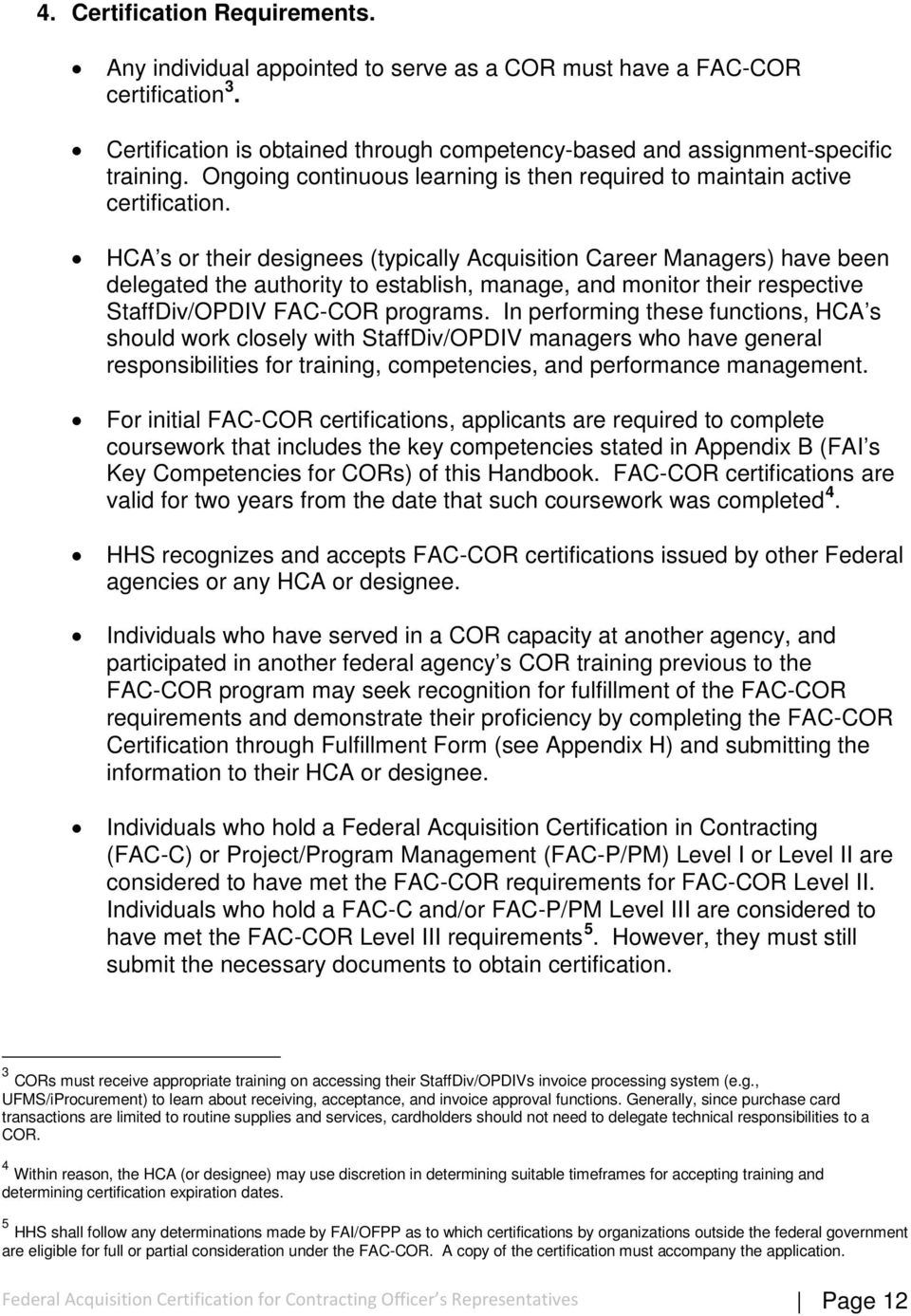 Federal Acquisition Certification For Contracting Officer S