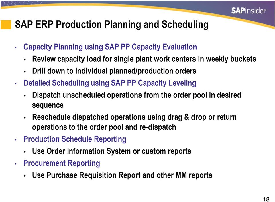 SAP ERP Versus SAP APO: Which Production Planning Functionality Do I